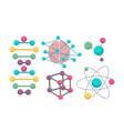 dna molecule icons for science in molecular vector image vector image