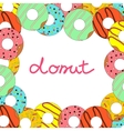 donut on white background vector image vector image