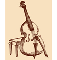 Double Bass with a bow