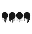 dripping oil blob drip drop paint or sauce stain vector image