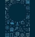 education and school concept vertical blue vector image vector image