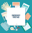 emergency first aid icons vector image vector image