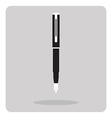 flat icon pen vector image vector image