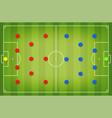 football tactic board magnetic board vector image vector image
