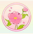 game icon with camellia flower vector image vector image