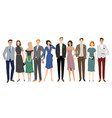 group diversity business people standing vector image vector image