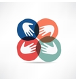 handshake and friendship icon vector image vector image