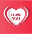 heart i love you handmade vector image vector image