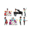 jazz band african american musician and singers vector image