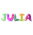 julia female name vector image vector image
