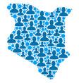 kenya map population people vector image vector image