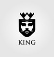 king logo designs with crown vector image