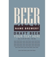 label with draft beer vector image vector image