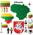 Lithuania map vector image vector image