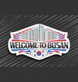 logo for busan vector image
