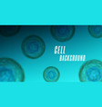 macro cell biology realistic background viruses vector image