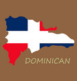 map of dominican republic with the flag north vector image vector image