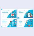 medicine brochure card set medical template o vector image vector image