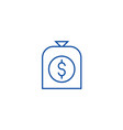 money bag line icon concept money bag flat vector image vector image