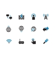 Networking duotone icons on white background vector image vector image
