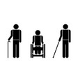 people with disabilities symbols vector image