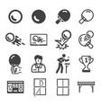 pingpong icon vector image