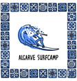 portugal landmarks set algarve surfcamp surfer vector image vector image