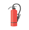 red color fire extinguisher in flat or cartoon vector image