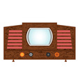 Retro television set vector image