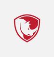 rhino shield icon design vector image vector image