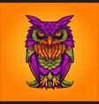 robot owl bird vector image