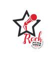 rock club music festival logo 1804 emblem vector image vector image