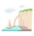 sea cliff icon cartoon style vector image vector image