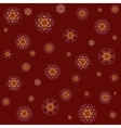 Seamless lace pattern on red background vector image