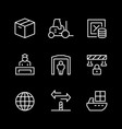 set line icons customs vector image vector image