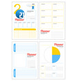 set minimalist planners 2021 monthly weekly vector image