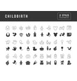 simple icons childbirth vector image