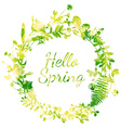 Spring watercolor wreath vector image vector image