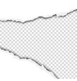 torn wide hole in whitesheet of paper vector image vector image