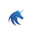 unicorn logo icon vector image vector image