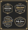 Vintage denim jeans frame logo for your business vector image vector image