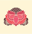 vintage owl head old school vector image vector image