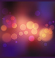 violet blurred background with lights and bokeh vector image