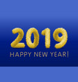 wooly yellow hairy shaggy wool 2019 happy new vector image vector image