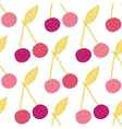 yummy cherries seamless pattern background vector image vector image