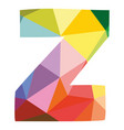 z colorful letter isolated on white background vector image vector image