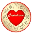 zodiac sign Capricorn for lovers on Valentine vector image vector image