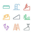 9 step icons vector image vector image