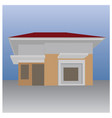 a simple house vector image