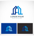 abstract building geometry logo vector image